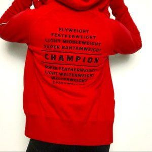 Nike Manny Pacquiao Embroidered Red Zip Up Hoodie